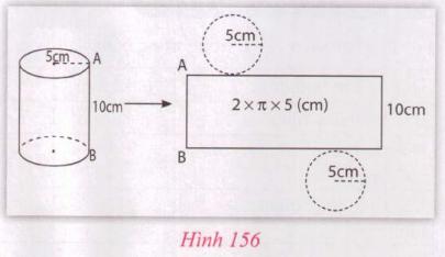 Giải VNEN toán 9 bài 1: Hình trụ - Diện tích xung quanh và thể tích hình trụ