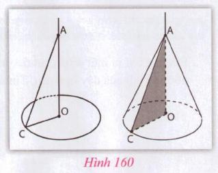 Giải VNEN toán 9 bài 2: Hình nón - Hình nón cụt - Diện tích xung quanh và thể tích hình nón, hình nón cụt