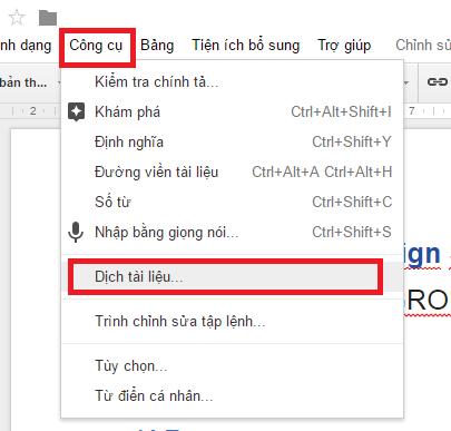 Kết quả hình ảnh cho Dịch tài liệu  trên Google Drive