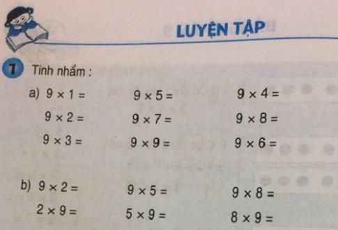 Giải bài luyện tập - sgk toán 3 trang 64