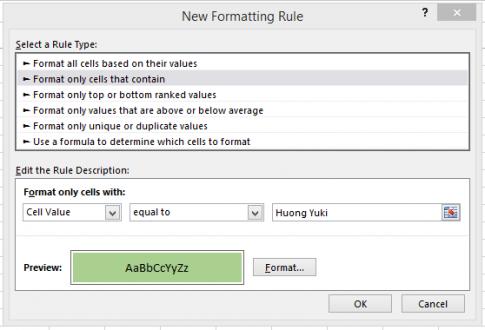 Hướng dẫn cách thay đổi màu cho ô theo giá trị trong Excel