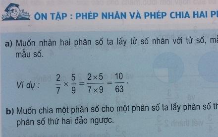Giải bài ôn tập phép nhân và phép chia hai phân số