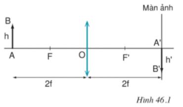 Giải bài 46: Thực hành: Đo tiêu cự của thấu kính hội tụ - sgk Vật lí 9 trang 124-125