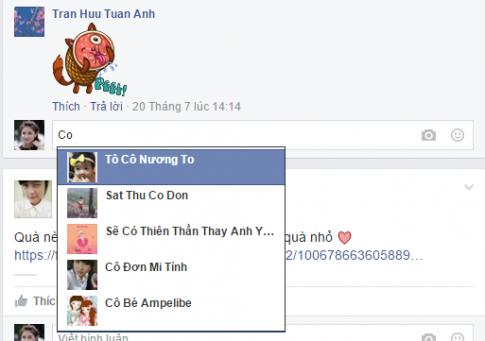 Cách tag tên bạn bè vào comment facebook