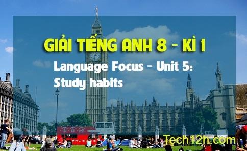 Language focus - Unit 5: Study habits