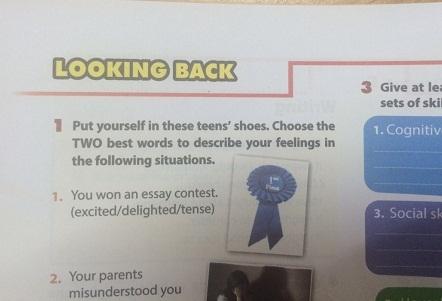 Looking back - Unit 3: Teen stress and presure