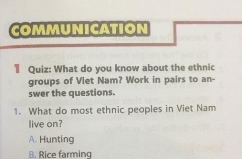 Communication - Unit 3: Peoples of Viet Nam